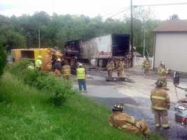 News 8's Barbara Barr took these photos of the crash along Route 72 in Swatara Township, Lebanon County.