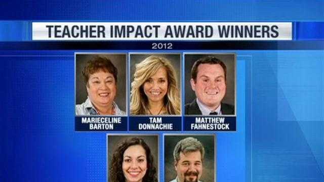 Teacher Impact Award winners
