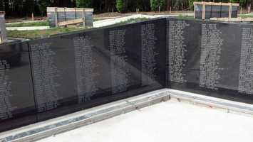 The garden is a memorial dedicated to those who serve in the military.