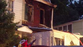Flames spread throughout a home leaving two families homeless.