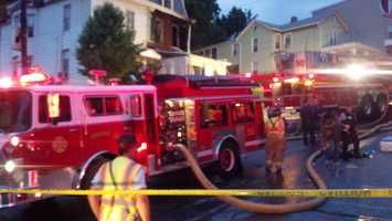 A fire was reported in the 100 block of Lincoln Street on Wednesday.