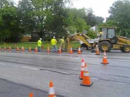"Around 12:30 p.m., York Water Company President Jeff Hines relesead this statement:""We are currently restoring the pavement from a water main break this morning at Edgewood Rd. and Harrowgate Rd. in Springettsbury Township, York County.One-way traffic has been restored since 10 AM with flaggers directing traffic flow. We expect to have two-way traffic open later this evening, but recommend that rush hour motorists avoid Rt. 24 between Market St (Rt 462) and Longstown this afternoon and early evening."""