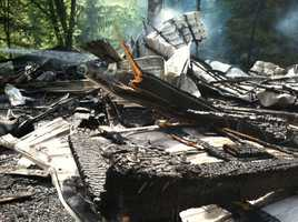 A barn fire in Newberry Township, Lancaster County, on Friday afternoon left two firefighters hospitalized for heat exhaustion.