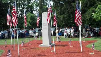 About 200 people turned out for the Memorial Day observance at Memorial Park in York.