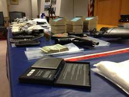 This slideshow shows items that were seized in the investigation, along with photos of the suspects.