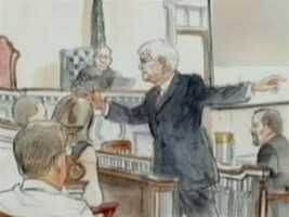 Joe McGettigan delivers the prosecution's opening statement on day one.