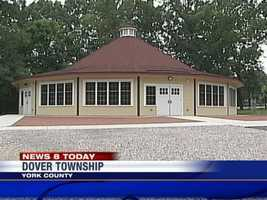 Police said they smashed windows on Brookside Park's carousel building in Dover.