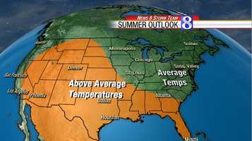 Most indications are that in the northeast we will see about a normal summer in terms of temperatures.