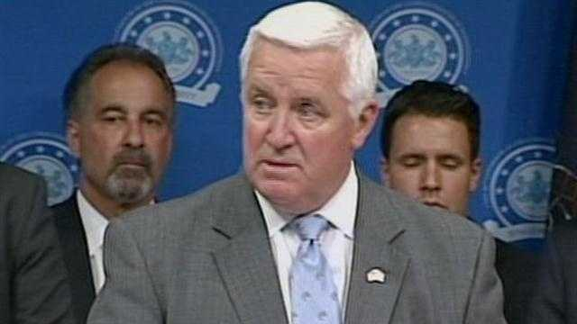 Gov. Tom Corbett announced a budget agreement with lawmakers