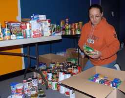 2. Food -- stock up on non-perishable items that you eat regularly