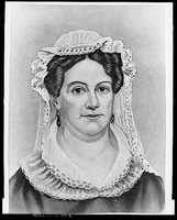 1829-1837: Rachel Jackson died before Andrew Jackson took office. She was buried wearing the white dress she purchased for her husband's inaugural ceremonies.