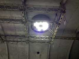 Officials said Thursday's fire at the old Hersheypark arena started above lights in the roof.
