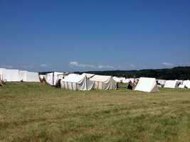 Civil War re-enactors have gathered near Gettysburg to mark the 149th anniversary of the battle.