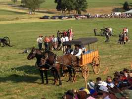 The events continue all weekend and conclude with Sunday's re-enactment of Picket's charge on the final day of the battle.