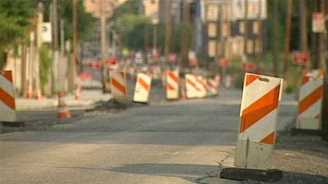 7th Street Road construction