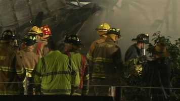 More than 60 firefighters were called to the blaze along Georgetown Road.