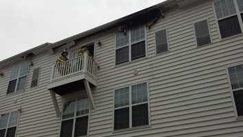 Firefighters put out a fire at a Lancaster County apartment building on Wednesday afternoon.
