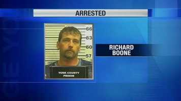 Police arrested Richard Boone, 43.