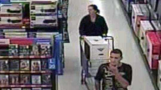 Silver Spring Township police released this surveillance image of two of the people suspected in the computer thefts.