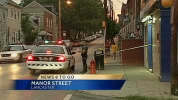 A man is hospitalized in critical condition following a Lancaster stabbing early Friday.