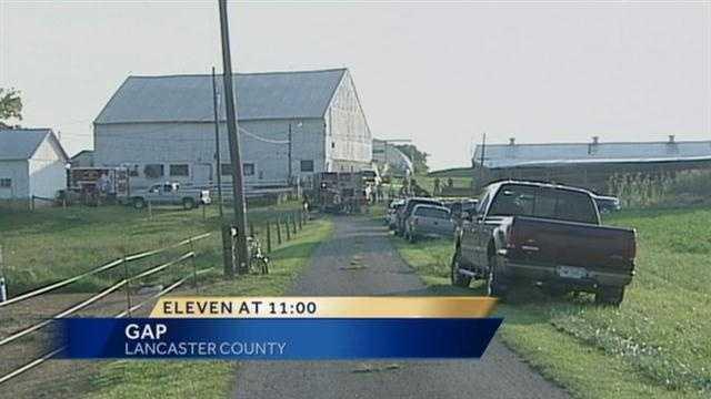 Lawn tractor fatal scene