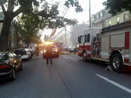 Fire fighters remained on the scene for over 12 hours.