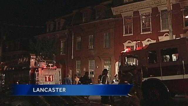 A kitchen fire shut down the 200 block of West Vine Street in Lancaster Monday night.