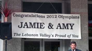 The event on the courthouse steps honors Jamie Gray and Amy Tran Swensen.