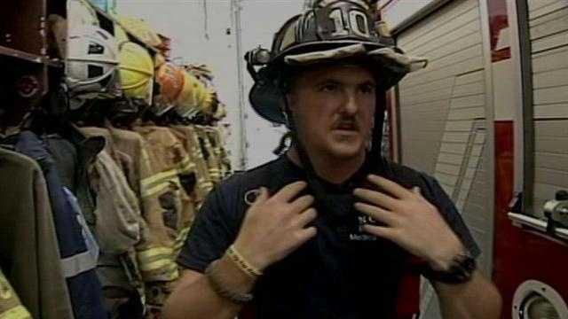 Adam Smith talks about being injured in a Cumberland County fire.