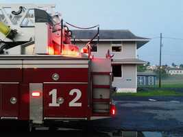 Fire heavily damaged a barracks at Fort Indiantown Gap early Wednesday.