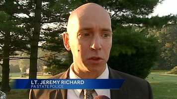 """""""We believe the juvenile was with other juveniles that were camping outside of the residence,"""" said Lt. Jeremy Richard of Pennsylvania State Police."""