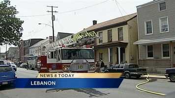 Five people, including three children, were displaced in a Lebanon fire Wednesday.