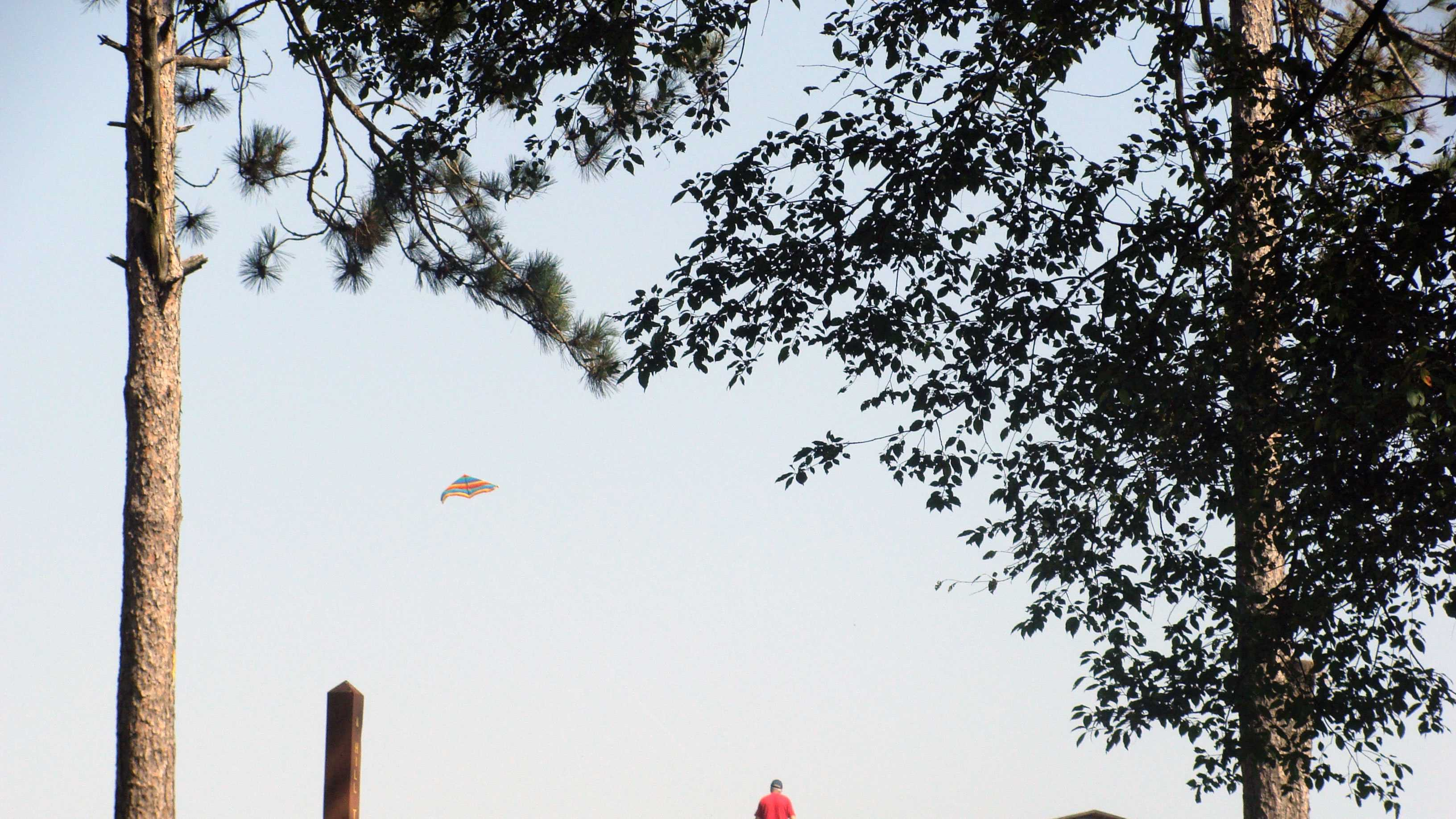 The crest of Mount Pisgah is an excellent area for kite flying.