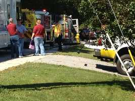 A York Water Company official said the danger has passed and workers were taken to the hospital as a precaution.