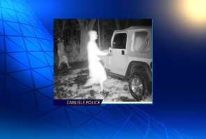 The people pictured in this surveillance photo are suspects in thefts from cars.