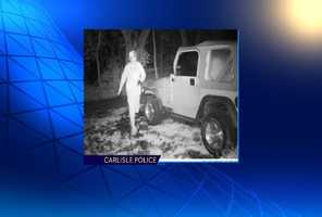 The person pictured in this surveillance photo is a suspect in thefts from cars.