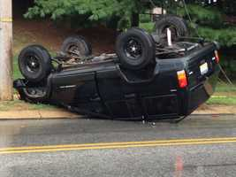 Emergency crews responded to this crash in York County on Monday afternoon.