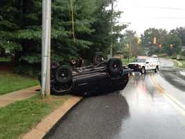 The crash happened in West Manchester Township on White Street and Banister.