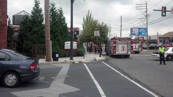 A pot of food cooking on the stove in the kitchen of the John J. Jeffries Restaurant caught on fire.