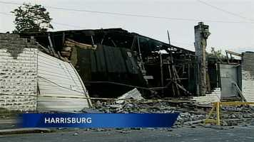 Harrisburg officials are investigating a building collapse.