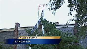 A Lancaster family is out of their College Avenue home after fire damaged it.