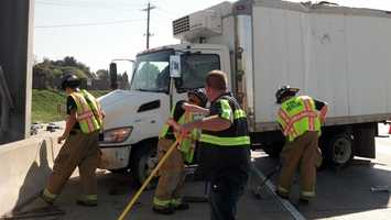 The box truck driver was also not hurt.