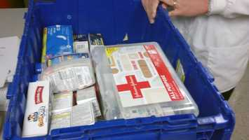 All 11 schools in the Harrisburg School District received a special delivery from Rite Aide on Thursday.