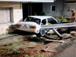 A neighbor took this photo of the crash scene.
