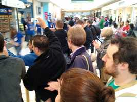 The store opened at 8 a.m. for the release of the iPhone 5.