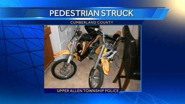 Police provided this photo of the mini-bike.