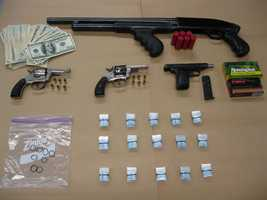 Police issued 20 arrest warrants for mostly drug-related charges in the Elizabethtown area on Wednesday. Many arrests were made, but a few people are being sought, police said.
