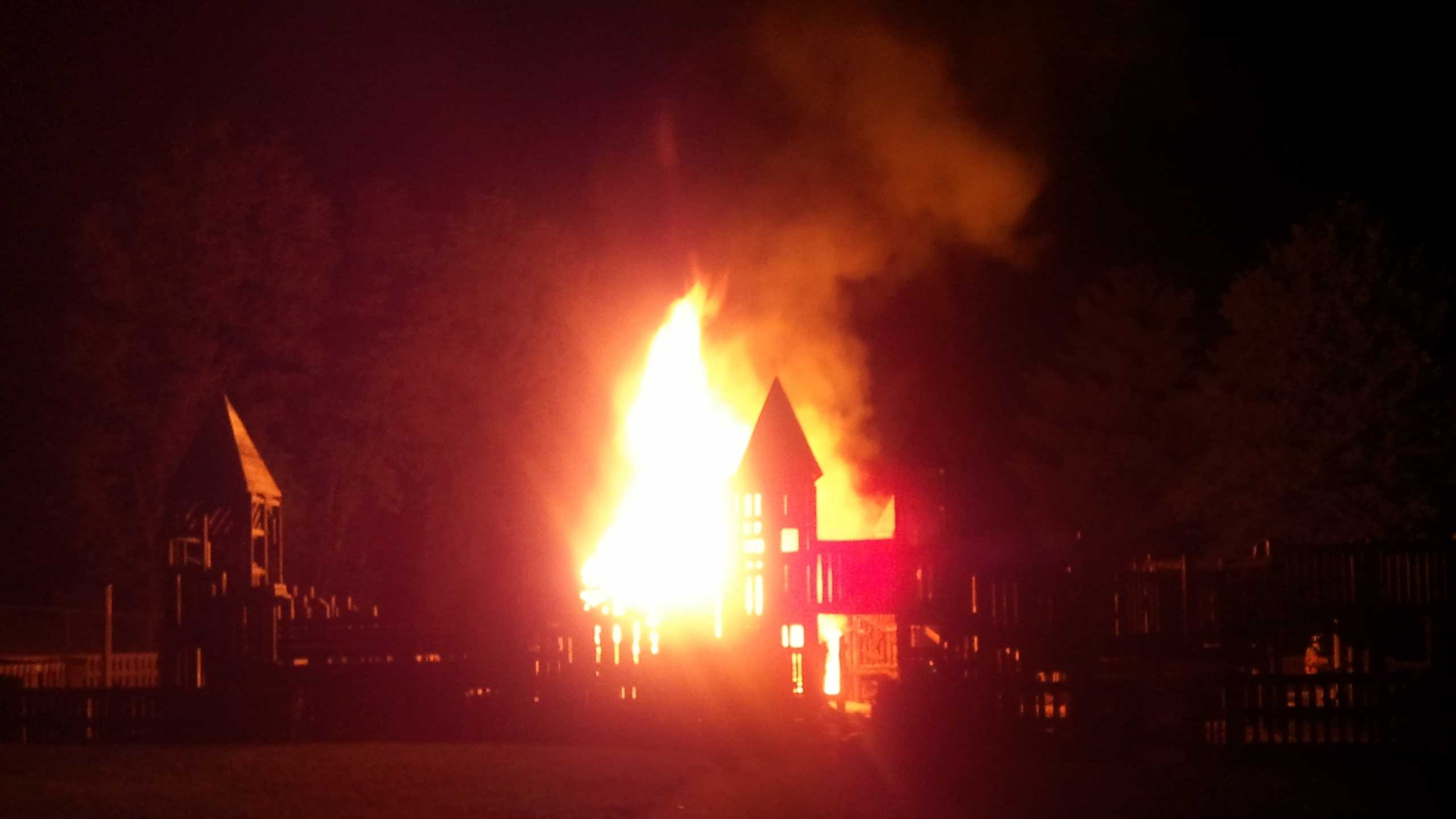 A News 8 viewer shared this photo of Friday's fire.