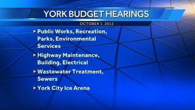 York budget hearings