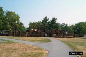 Mount Joy officials shared these photos of how the playground appeared before Friday's fire.